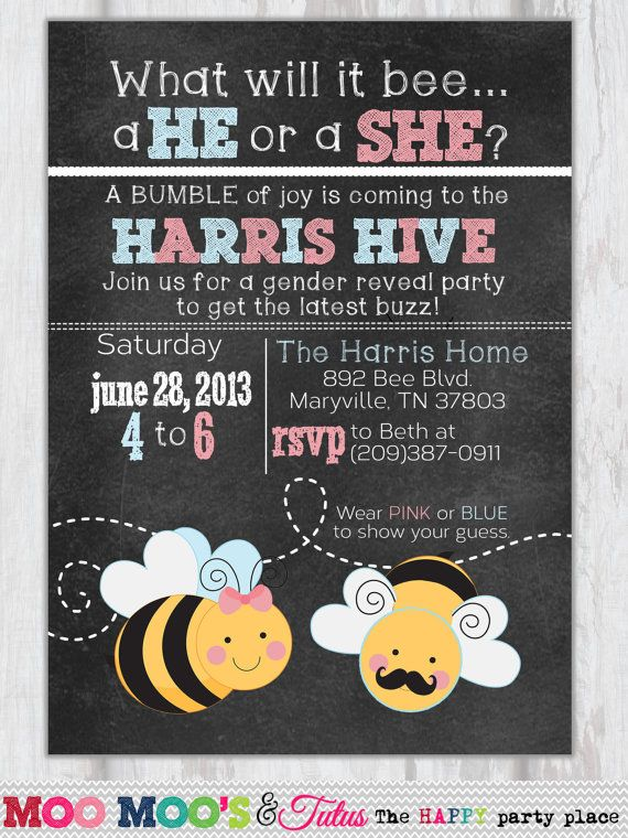 baby chair sit up hire covers bristol bee gender reveal invitation - what will design or shower by ...