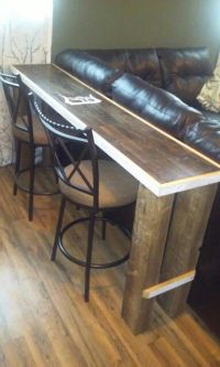 25+ best ideas about Table behind couch on Pinterest   Diy ...