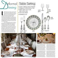 Table Setting Etiquette - Informal Dining | Home Style ...