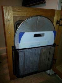 Inside Cabinet Door Organizer | Storage hack-paper tray ...