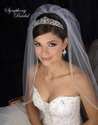 25+ best ideas about Wedding tiara veil on Pinterest