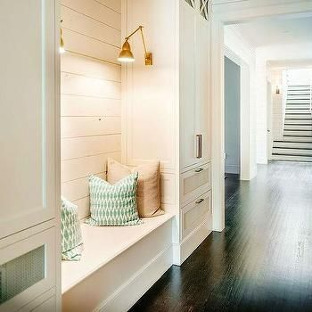 Builtin bench with shiplap  Farm house dream  Pinterest  Nooks On back and Washers