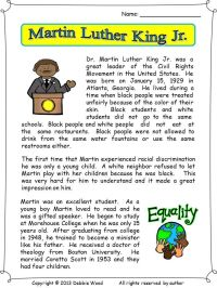 Martin Luther King Jr | Martin luther, Vocabulary ...