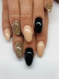 25+ best ideas about Black Gold Nails on Pinterest | Black ...