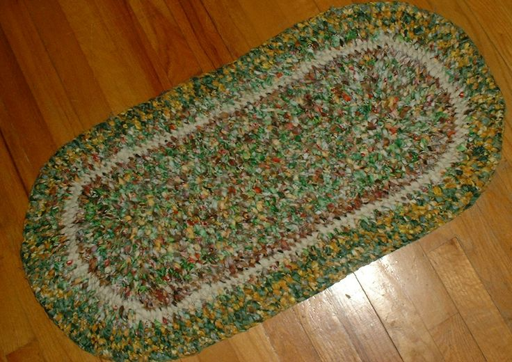 This is a rag rug I made using the Amish Knot or