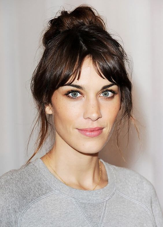 25 Best Ideas About Front Bangs Hairstyles On Pinterest Front