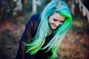 1000 ideas green hair colors