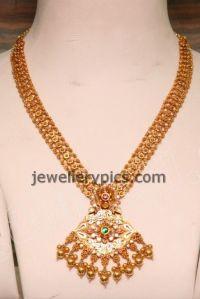 Beautiful Malabar gold Mini Haram design - Latest ...