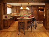 knotty alder cabinets | Knotty Alder, dark stained ...