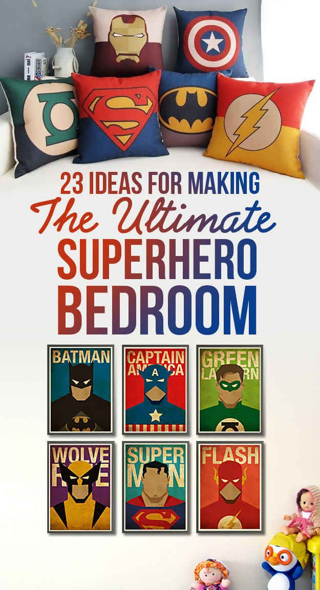 It's not weird that I want all of this right?? 23 Ideas For Making The Ultimate Superhero Bedroom