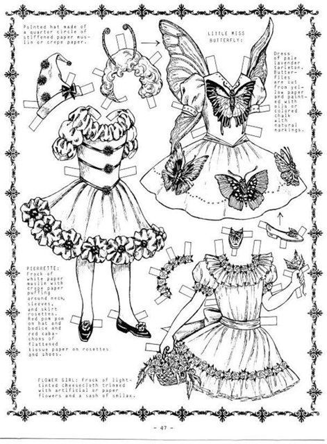 885 best images about DOLLS PAPER / ARTICULATED (BLACK