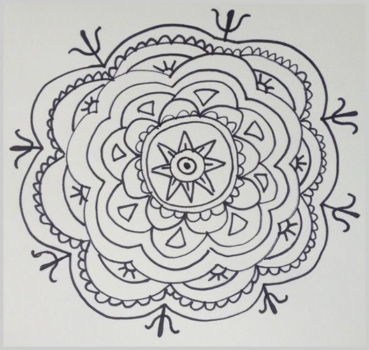 Paso 15 para dibujar un mandala  Doodles Mandalas