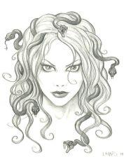 feminine medusa drawing