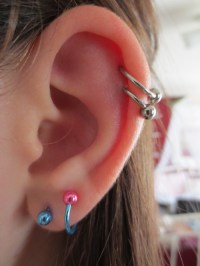 double cartilage piercing