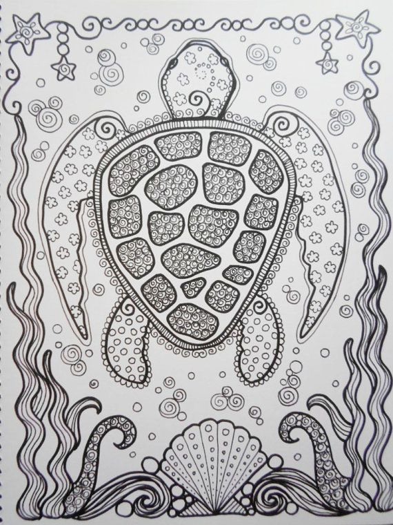 COLORING BOOK Sea TuRtLEs Coloring Book You Be The ARTIST