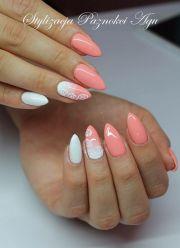 peach nail art ideas