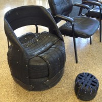 Chair made of tires at the tire shop! | Furniture ...