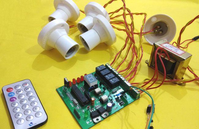 Ir Remote Volume Controller Electronic Circuit Diagram
