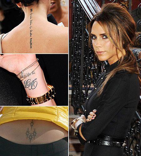 victoria beckham tattoos piercings