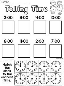 25+ best ideas about Telling time activities on Pinterest