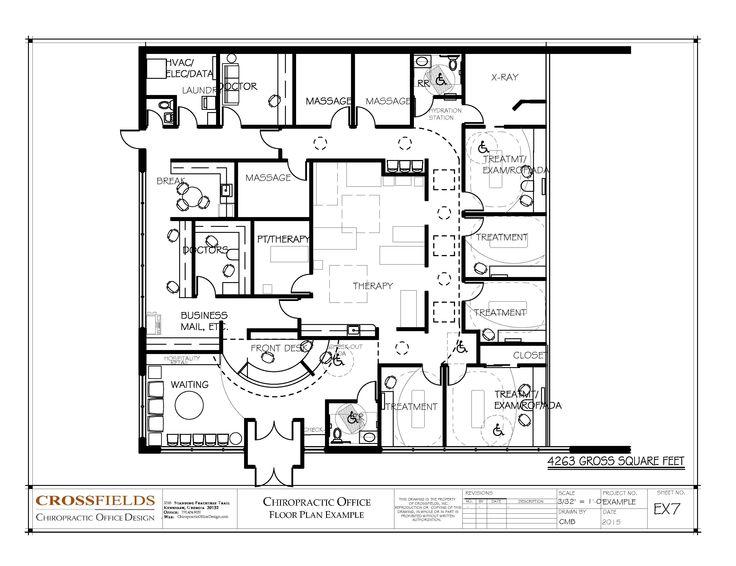 Chiropractic Office Floor Plan #Multi Doctor Office #