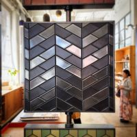 New tile board at Heath SF made with half hex tiles. (at ...