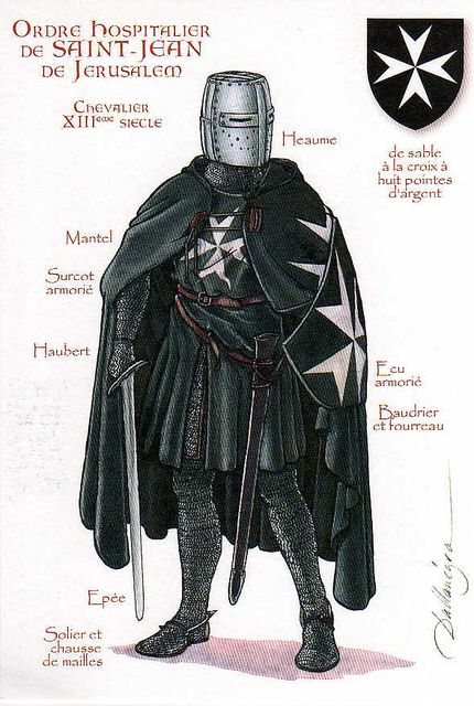 French Knight Hospitaller  Knights Hospitaller  Pinterest  Knight Knights hospitaller and French