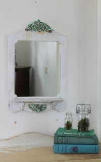 Wall Mirror with Key Racks & Shelf Entryway Key Holder ...
