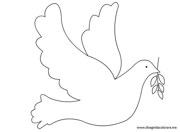 template bird peace to print black and white christmas