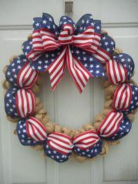 Best 10+ Patriotic wreath ideas on Pinterest   4th of july ...