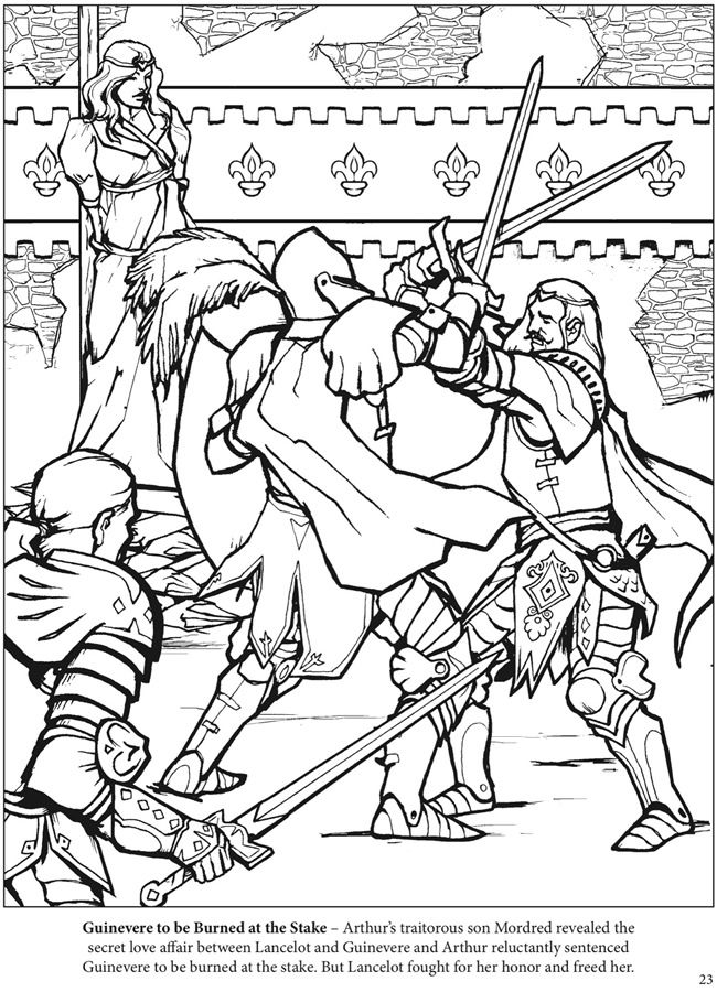 The Adventures of King Arthur Coloring Book Dover
