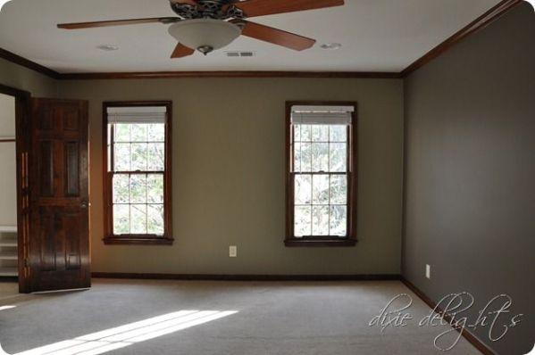 light brown paint bedroom room oak trim light brown walls | House Decor | Pinterest