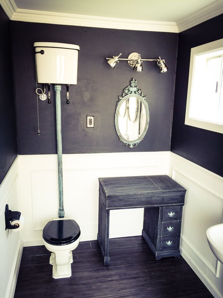 kitchen wood tile floor work table with drawers bathroom by gabriel genier. high tank toilet, picture ...