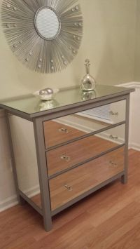Mirrored Dresser Silver, Upcycled Ikea 3 Drawer Mirror ...