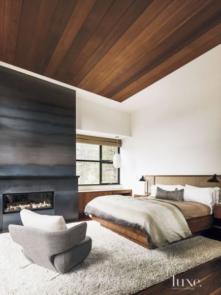 modern bed design bedroom 35 Amazing Fireplace Design Ideas | Editor, Warm bedroom