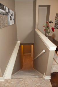 capped half wall | Home | Pinterest | Basement stairs ...
