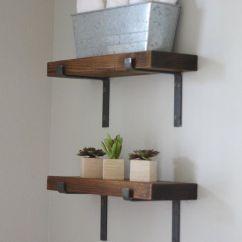Ikea Kitchen Counter Pub Table Black Shelf Brackets Iron, Powder Coated Open Shelving ...