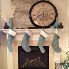Living Room Mantel Decor Ideas With Light Brown Couches Large Clock Over The Fireplace | Home Sweet ...
