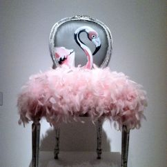 Velvet Armchair Pink Crazy Bean Bag Chairs Flamingo Chair | Hot Seats! Pinterest And Flamingos
