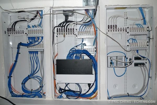 5 1 home theater wiring diagram 2004 gmc radio centrally located network closet. allows access to every room and reduces ...