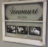 Vintage Window Two Pane Family Name Personalized Picture ...