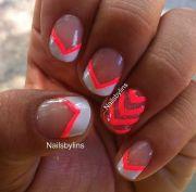 hot pink nail design beautiful