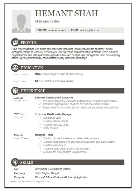 25 Best Ideas About Sample Resume On Pinterest Sample