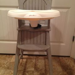 Eddie Bauer High Chairs Revolving Chair In Indore Shabby Chic Chair. Paris Grey Annie Sloan Chalk Paint Distressed Then Coated ...