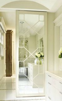 mirrored fret door to closet | Bathroom | Pinterest ...