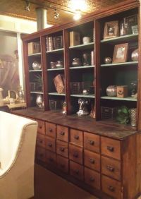 Antique pharmacy apothecary cabinet available. Available