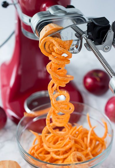 kitchen aid stand mixer attachments kohler pull down faucet use our new spiralizer attachment to make this spiralized ...