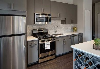 Steel Gray Kitchen Cabinets