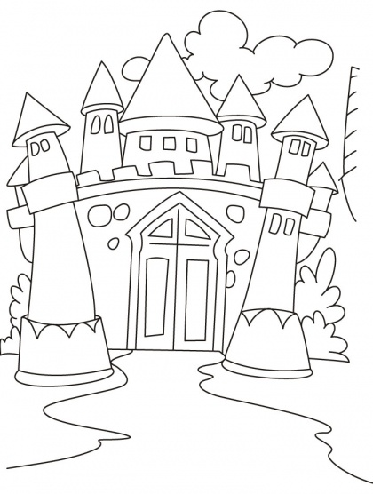 7 best images about Castle Coloring Pages on Pinterest
