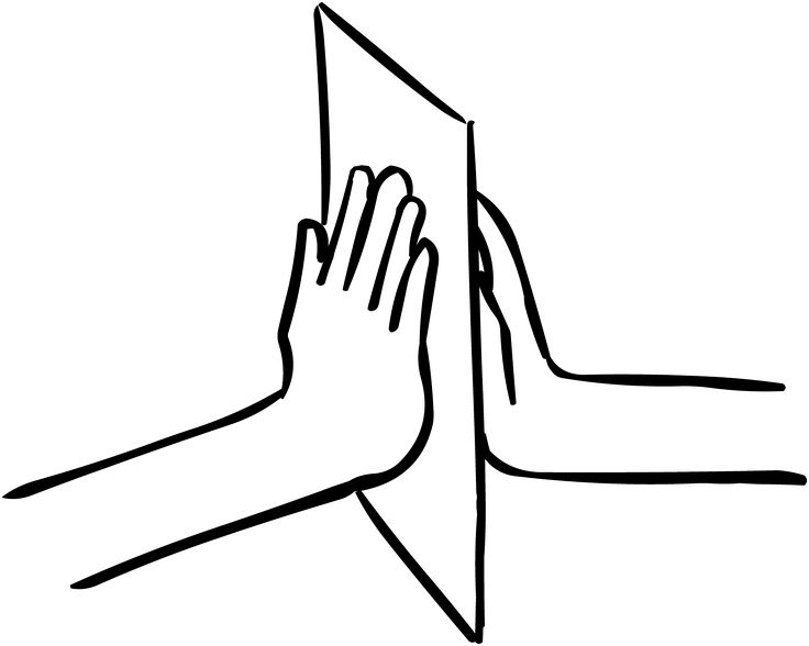 Sheet of paper held between two hands, as featured in team